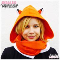 Hooded Scarf - Fox by shiricki