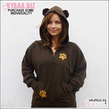 Hoodie - Brown Bear by shiricki