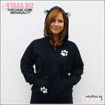 Hoodie - Black Cat by shiricki