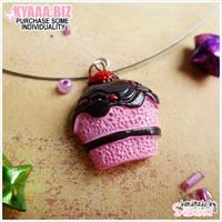 Necklace - Strawberry Cupcake
