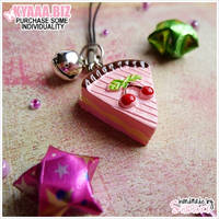 Charm - Cell Phone - Cherry Cake