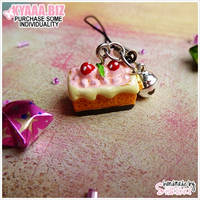 Charm - Cell Phone - Strawberry Cake