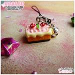 Charm - Cell Phone - Strawberry Cake by shiricki
