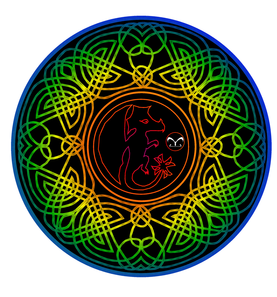Celtic dragon mandala color 1 by vlindertje235 on deviantart - Mandala dragon ...