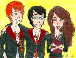 The Golden Trio - Harry Potter by brenda--amancio