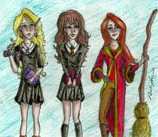 Lovegood, Granger and Weasley. by brenda--amancio