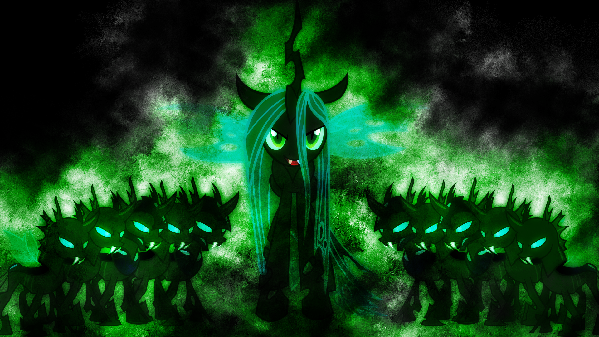 Queen Chrysalis: Emerald Flames of Magic (No text) by EnemyD