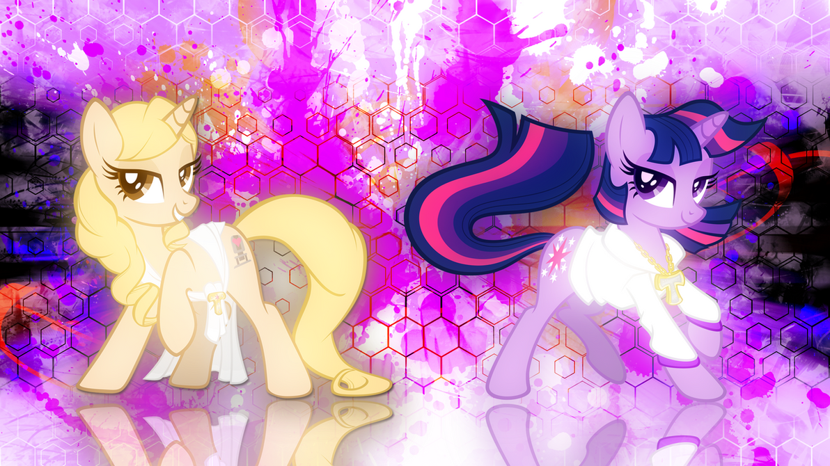 Taralicious and Twilightlicious Wallpaper by EnemyD