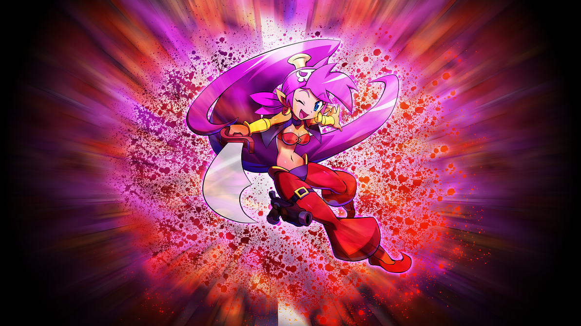 Shantae The Half-Genie Pirate Wallpaper by EnemyD