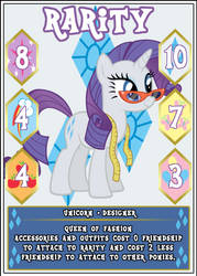MLP:FiM Card Game: Rarity - Queen of Fashion by PonyCardGame