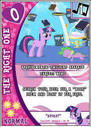 MLP:FiM Card Game The Right One by PonyCardGame