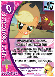 MLP: FiM Card Game: Apple Projectiles by PonyCardGame