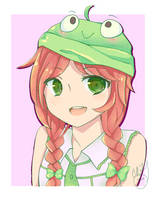 Froggy Hat by isparklehearts