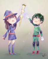 My Hero and a Little Witch by isparklehearts