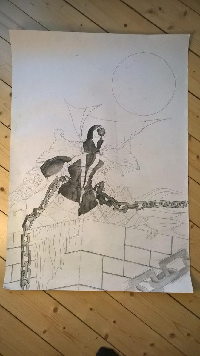 Spawn in the making (aquarelle) by Complicated-name