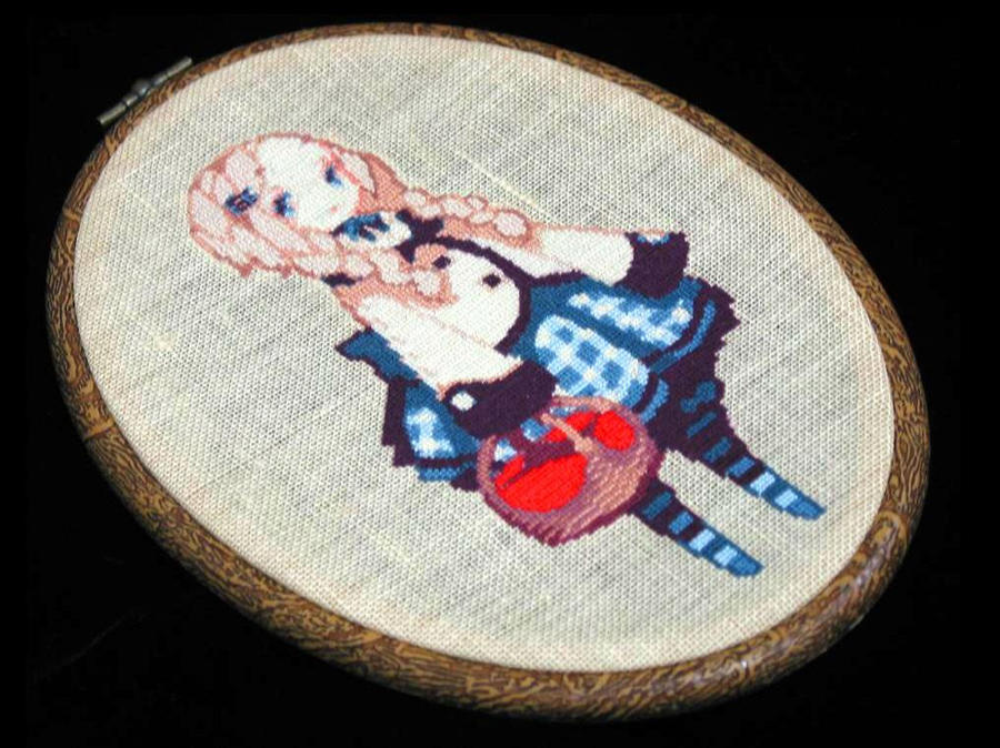Pixell art in Cross stitch by syosa