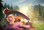 Commission - Picnic Cuddles