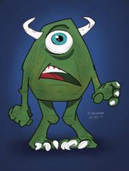 Mike Wazowski Fan Art by darrenhester