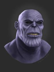 Thanos Fan Art by darrenhester