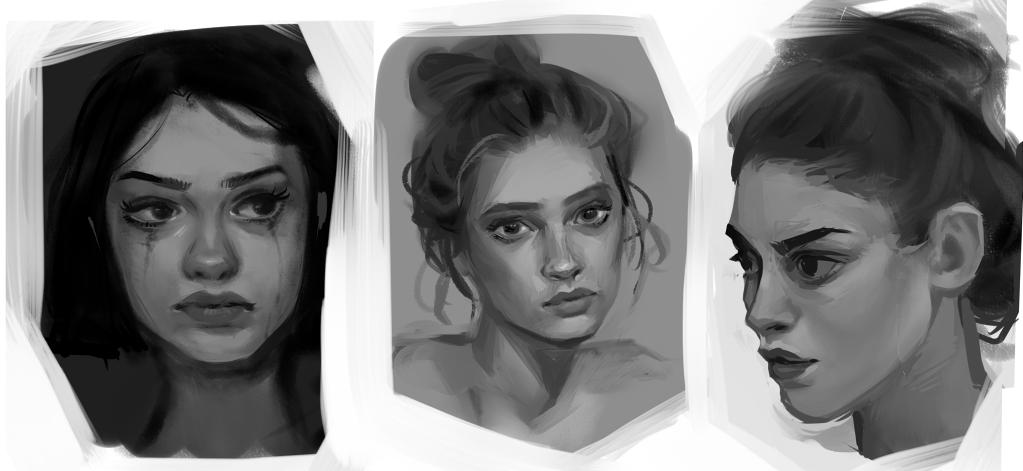 Face Studies 01 by koyt