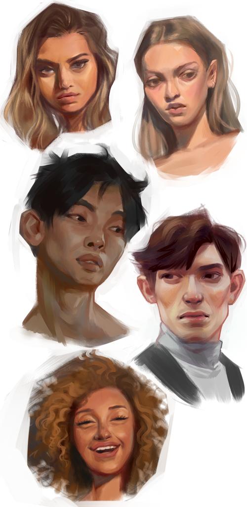 Face Studies 02 by koyt