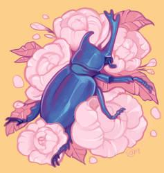 Rose Beetle by koyt