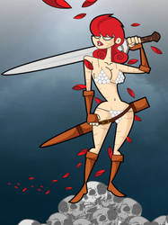 Red Sonja color by kungfumonkey