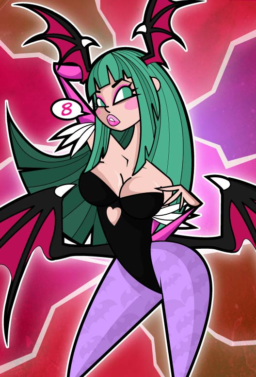 Morrigan color by kungfumonkey