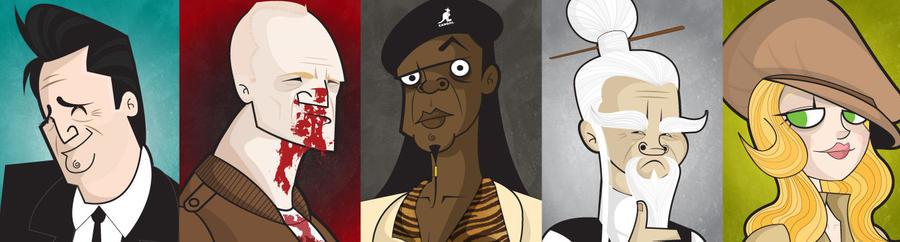 Tarantino Characters by kungfumonkey