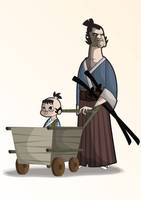 Lone wolf and cub by kungfumonkey