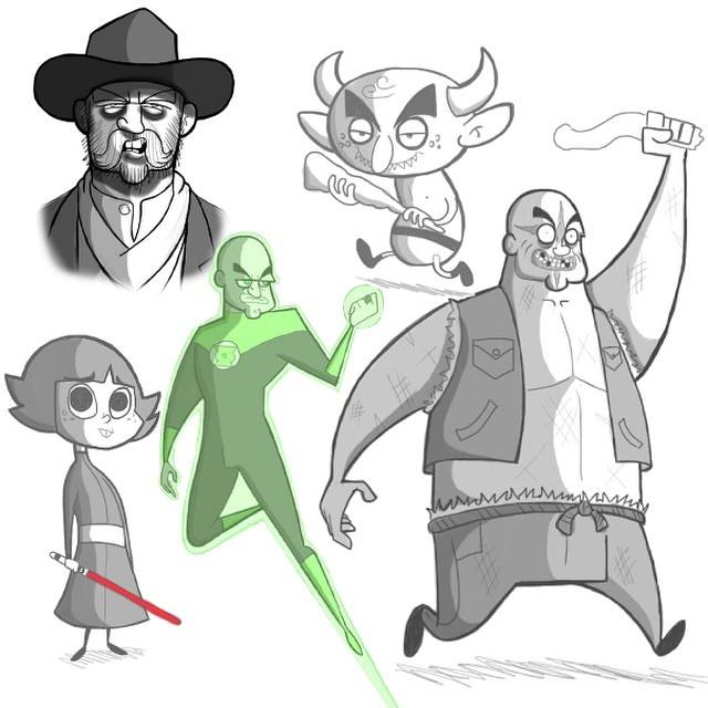 Sketch Set #19 by kungfumonkey