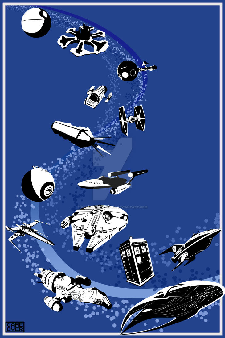 Poster: Ships in Space by GAME-OVER-CUSTOM