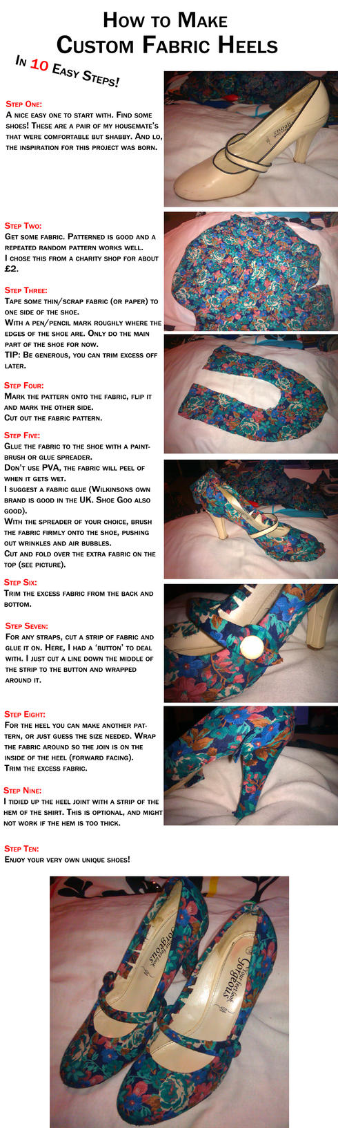 How to Make: Custom Fabric Heels by GAME-OVER-CUSTOM