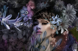 parmi les fleurs