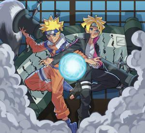 Naruto and Boruto fanart