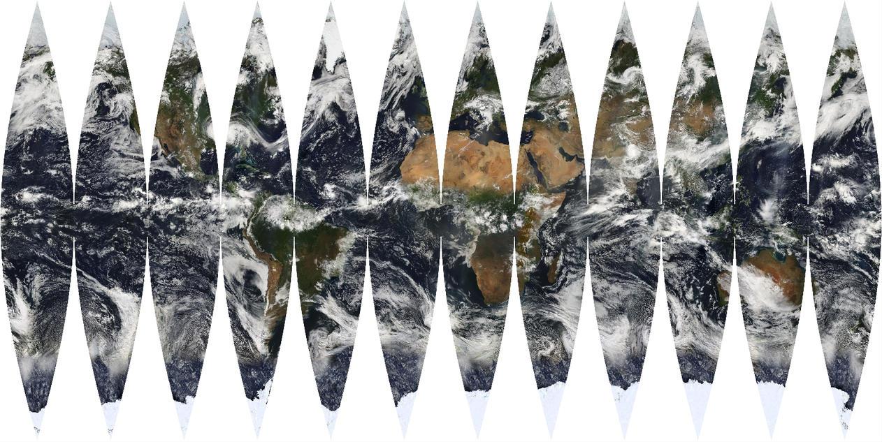 Earth globe gore map-01 by zarlat