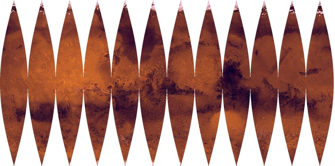 Mars globe gore map-02 by zarlat