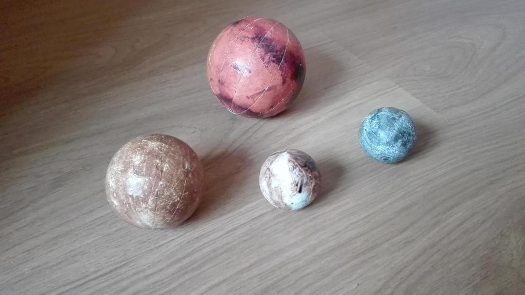 Mars, Mercury, Pluto and Moon balls by zarlat