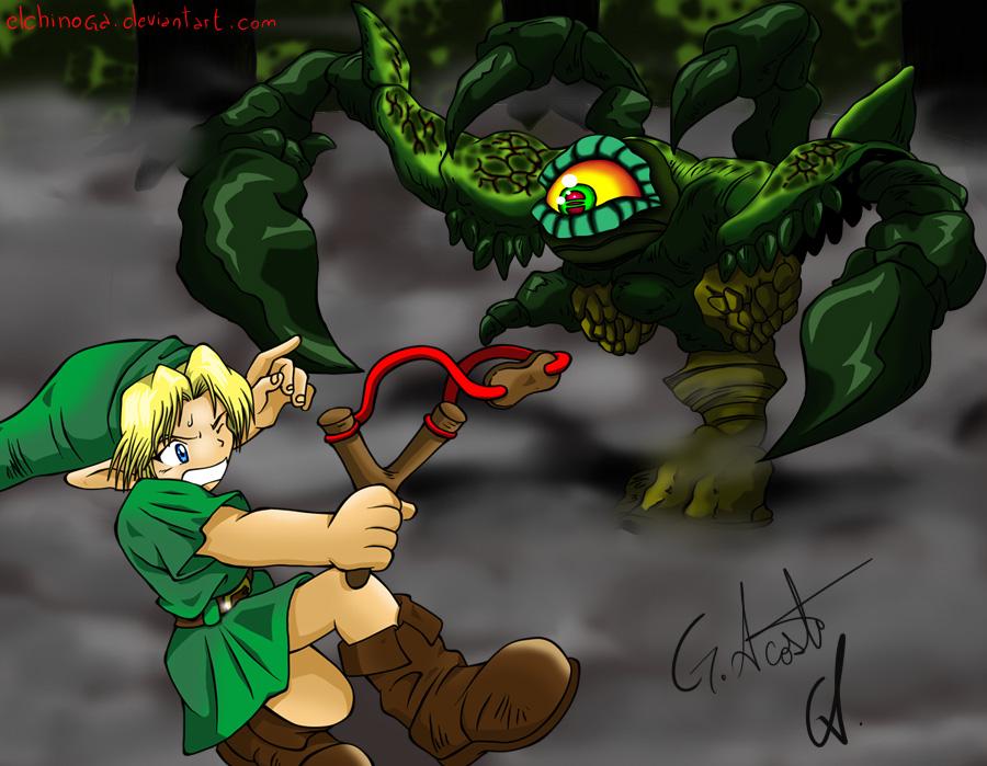 Link vs Gohma by DrawingSpirit2015