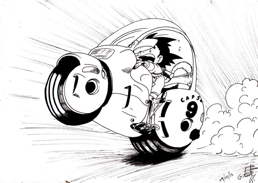 Goku - Dragon Ball by elchinoga