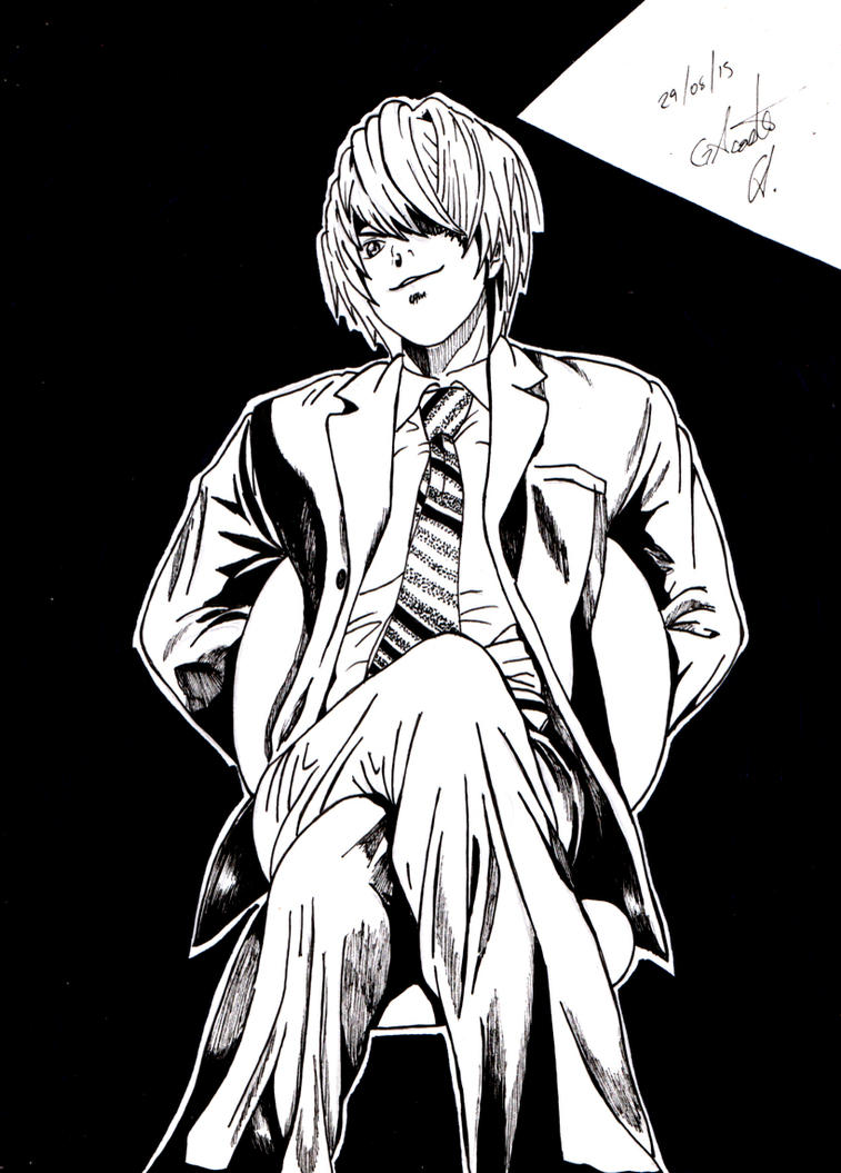 Light Yagami - Death Note by DrawingSpirit2015