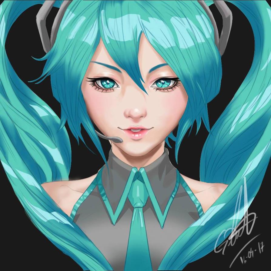 Miku by DrawingSpirit2015