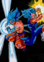 Goku and Vegeta - Traditional Work