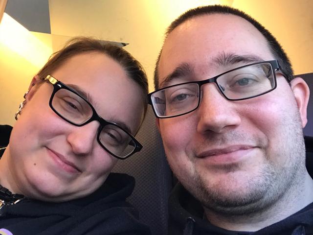Lovers' Selfie on the Train by ConfusedLittleKitty