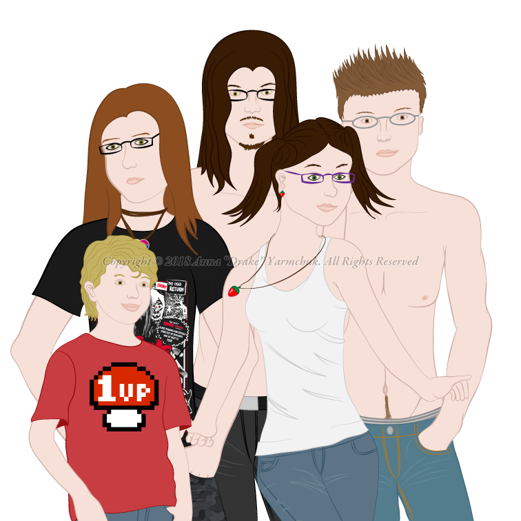 Head Family Portrait V2 by ConfusedLittleKitty