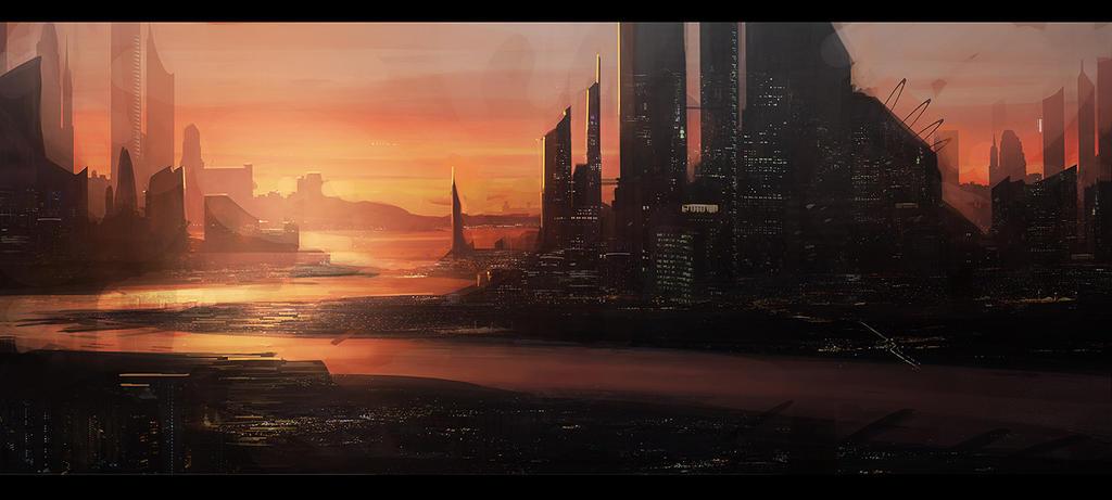 Sunset City by MatLatArt