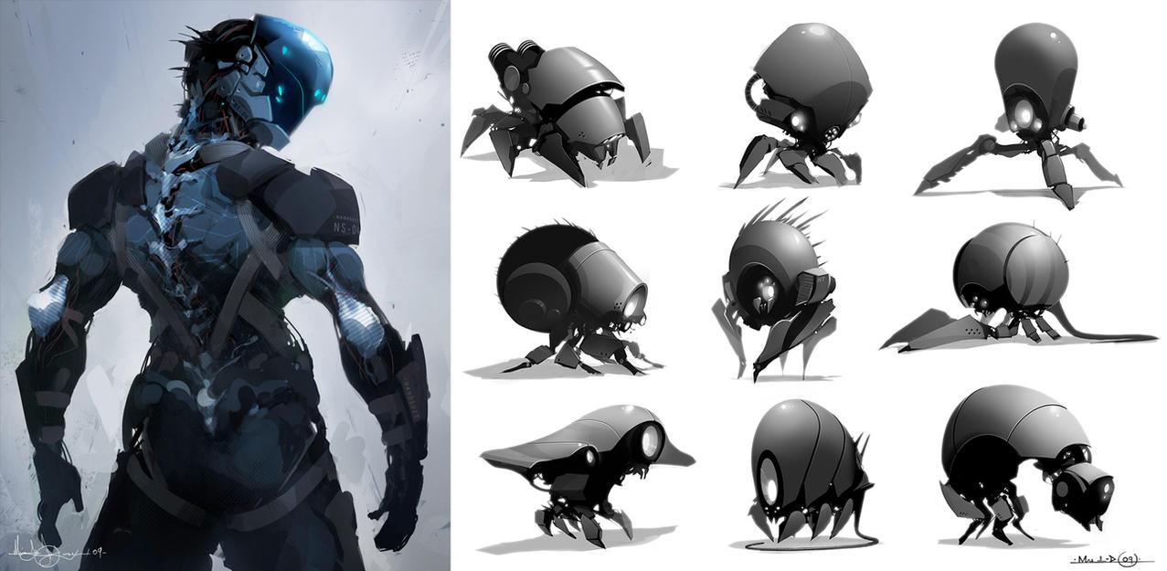 Nano bots by MatLatArt
