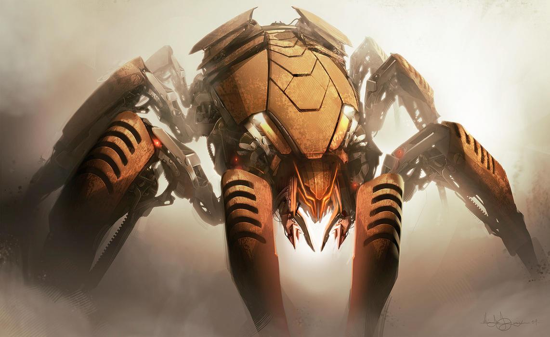 spiderbots by MatLatArt