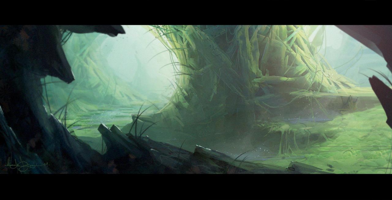alien jungle by MatLatArt