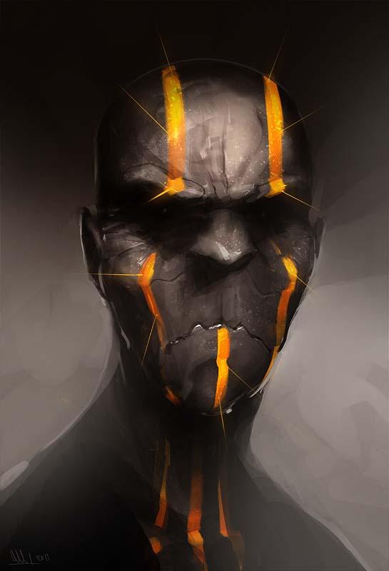 Orc Shaman by MatLatArt